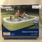 Summer Waves Deluxe 103 X 69 X 22 Family Inflatable Swimming Pool New