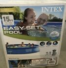 Intex 15ft x 33in Easy Set Inflatable Kid Swimming Pool with 530 GPH Filter Pump