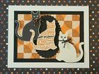 Stampin Up 3 Spooky Cats Halloween Card Kit of 4 Handmade