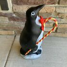 Christmas 1988 Blow Mold Penguin W Candy Cane Union Products 22