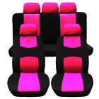 49pcs Universal Car Seat Covers Front Rear Beach Head Rest Full Set 9 Colors