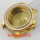 40mm Sapphire glass ceramic Gold Plated Watch Case fit Miyota 82 series movement
