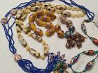 Vintage Venetian glass trade beads Wedding Cake Necklace Millefiori Aventurine