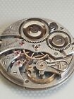 ILLINOIS A. LINCOLN 21 JEWELS OPEN FACE POCKET WATCH MOVEMENT  RUNNING!