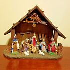 Creche Manger Stable Nativity Vintage Made in Italy Christmas Mary Jesus Joseph