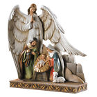 8 H Nativity with Angel Figurine