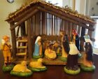 Vintage Sears Nativity Set Stable 11 Figures Christmas Decoration 71 97169 w box