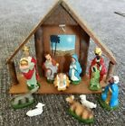 Vintage Nativity Set 10piece Japan Paper Mache