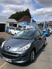 LARGER PHOTOS: CHEAP Grey Peugeot 207 with MOT and only 54,000 miles