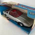 ERTL 1 16 Corvette With Open Sunroof Die Cast Metal Silver With Red Interior