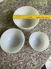 Vintage White Oven Ware Fire King Mixing/Nesting Bowls (Set of 3)