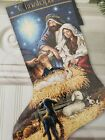 Counted Cross Stitch Christmas Stocking Kit Holy Night Dimensions Gold Nativity