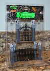 Lemax Spooky Town Halloween Village Wrought Iron & Gargoyle Fence & Gate 74241