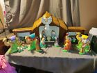 Vintage Ceramic Holland Mold Nativity Set Manger Jesus Angel Wise men Camels