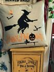 Kingray Feather Filled Applique Witch Large Plump Down Filled Halloween Pillow