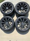 4 New Aston Martin Vantage Wheels Black Stock Factory And 4 Pirelli New Tires
