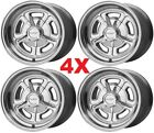 15X8 AMERICAN RACING WHEELS RIMS VN502 POLISHED C10 W THREE PRONG SPINNER