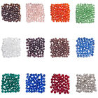 1500pcs Faceted Crystal Glass Loose Spacer Beads Jewelry Making Parts 4mm