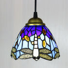 Stained Glass Tiffany Style Hanging Pendant Lamp Ceiling Light Dragonfly Pattern