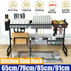 Stainless Steel Dish Rack Over The Sink Large Kitchen Dish Drying Rack Holder US