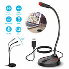 USB Computer Mini Condenser Microphone Stand Recording Mic For PC Desktop Laptop