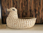 Native American PAPAGO Tohono O Odham BASKET DUCK With Artist Tag Vtg 1970s