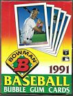 1991 BOWMAN BASEBALL Full Box of 36 Packs *RIGHT OUT OF THE CASE*