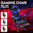 Gaming Chair Office Racing Recliner Leather Computer Swivel Lumbar Chairs Desk
