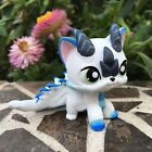 Mini Toy Pet Shop Custom  Cute Cat Dragon Short Cat Ooak Custom Hand Painted