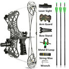 Mini Compound Bow Set 35lbs Sight Right Left Hand Archery Hunting Let Off 80