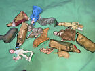 14 Piece Made in Hong Kong Molded Plastic Vintage Nativity Scene