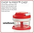 TUPPERWARE New CHOP N PREP CHEF Mini Food Chopper Processor CHILI RED fREEsHIP
