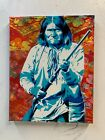 Geronimo 8x10x1 Painting on Canvas Apache First Nation Art Native American