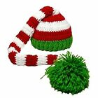 Baby Christmas Elf Long Tail Crochet Beanie Knit Hat Stocking Caps
