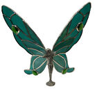 FAIRY GreenHandmade Stained Glass Sun Catcher 8X8Inches