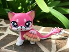 Mini Toy Pet Shop Custom Flying Short Hair Cat Ooak Custom Hand Painted