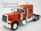 Peterbilt 389 Diecast Metal Plastic 1 32 Scale Truck Model by NewRay RED