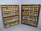 Lot of 73 Hard Rock Cafe Tall 4 Logo Shot Glasses Wood Cases Cities Collection