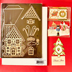 Anna Griffin Gingerbread House 13Pc Die w Damask Magnetic Sht BNIP + Miniatures