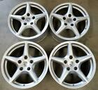 PORSCHE OEM Wheels Rims 18 INCH STAGGERED 5X130 SILVER