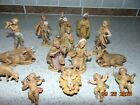 Vintage Fontanini Depose Italy 15 Piece Figures Nativity Set Cherubs Donkey