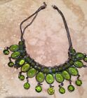 yoga necklace with glass pendant from venice jewelry