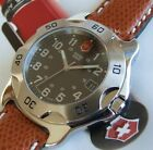 SWISS ARMY MeNs ClaSSiC OFFICERS 1884 RATCHET Sapphire Glass NEW OEM Leather EUC