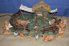 FONTANINI ANIMAL CORRAL 50244 with ANIMALS 5 NATIVITY VILLAGE
