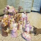 CHRISTMAS PINK NATIVITY 11 PIECE 6 TALL MISSING MARY