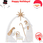 55 ft LED Nativity Scene Christmas Lights Yard Decoration Holiday In Outdoor