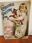 Very old Department store Christmas Greeting from The May Co Cleveland O 1893