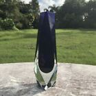 Vintage Murano Sommerso Vase Alessandro Mandruzzato Cobalt Blue and Clear 7 Inch