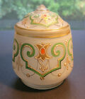 Antique Czech Enamel Glass Jar