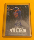 2020 Topps X Pete Alonso Curated Polar Bear On Card Auto Online Exclusive Mets
